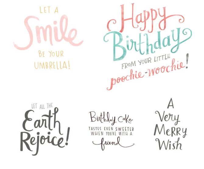 American greetings lettering emily dove illustration select handlettering from various american greetingsamerican greetings interactive assignments m4hsunfo
