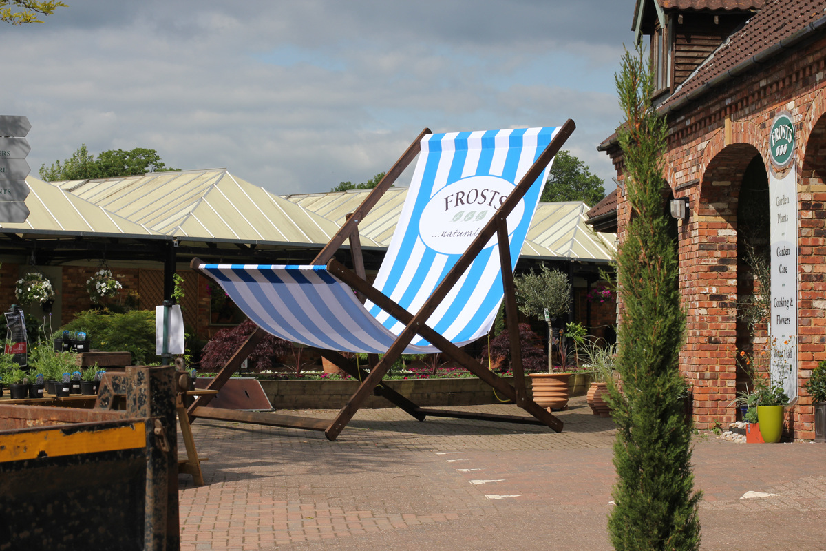 We Were Commissioned To Build And Install A Giant 5 Metre High Deck Chair  For Frostu0027s Garden Centreu0027s To Promote Their Summer Beach Themed Campaign  At Their ...